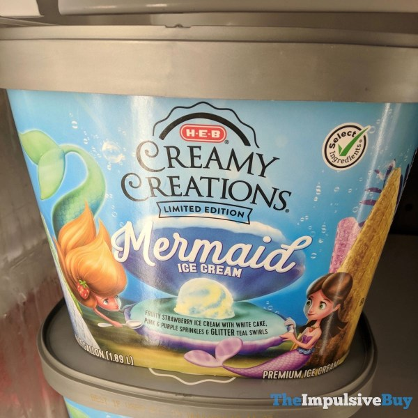 H E B Creamy Creations Limited Edition Mermaid Ice Cream