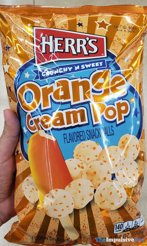 Herr s Orange Cream Pop Snack Balls
