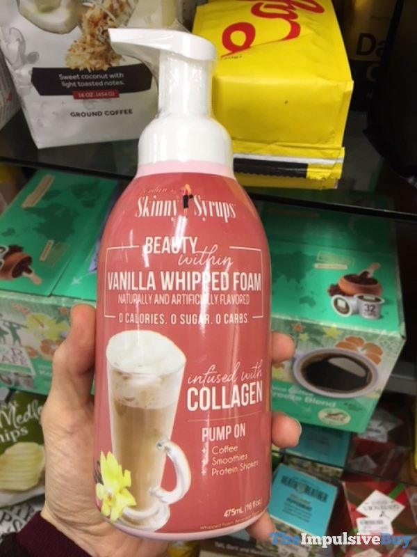 Jordan s Skinny Syrups Vanilla Whipped Foam infused with Collagen