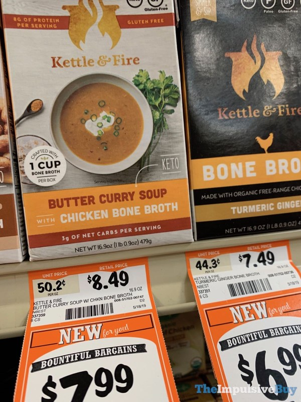 Kettle  Fire butter Curry Soup with chicken Bone Broth