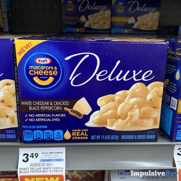 Kraft Macaroni  Cheese Deluxe White Cheddar  Cracked Peppercorn