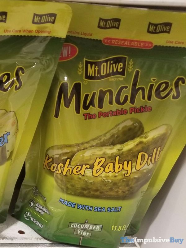 Mt Olive Munchies Kosher Baby Dills Pouch