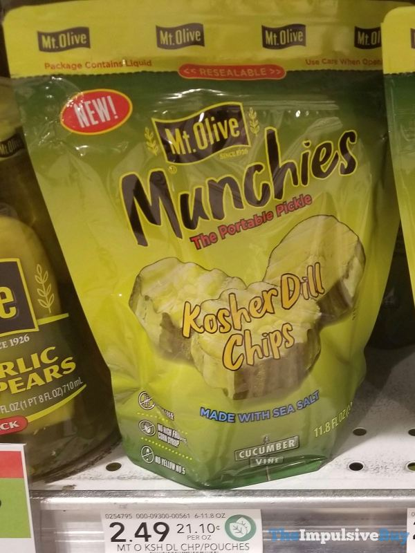 Mt Olive Munchies Kosher Dill Chips Pouch