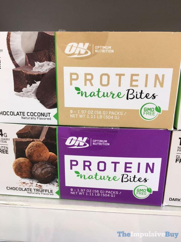 Optimum Nutrition Protein Nature Bites  Chocolate Coconut and Chocolate Truffle