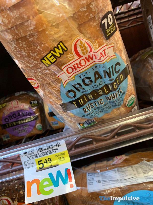 Oroweat Organic Thin Sliced Rustic White Bread
