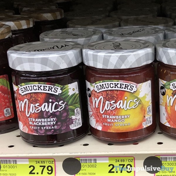 Smuckers Mosaics Fruit Spreads  Strawberry Blackberry and Strawberry Mango