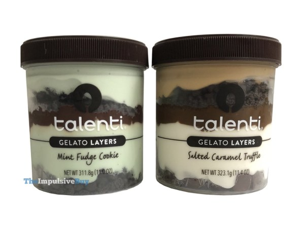 Talenti Gelato Layers Mint Fudge Cookie and Salted Caramel Truffle