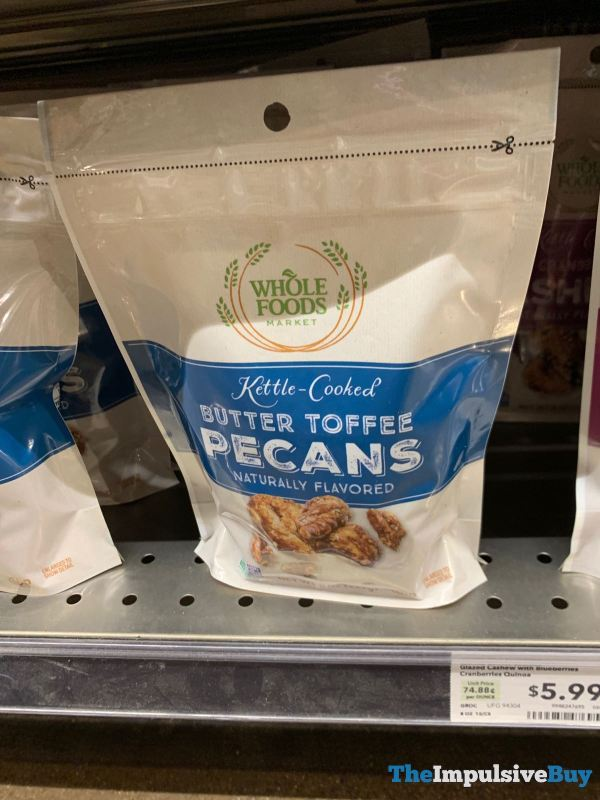 Whole Foods Market Kettle Cooked Butter Toffee Pecans