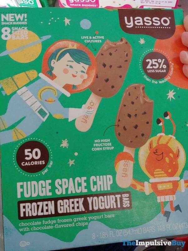 Yasso Snack Buddies Fudge Space Chip Frozen Greek Yogurt Bars