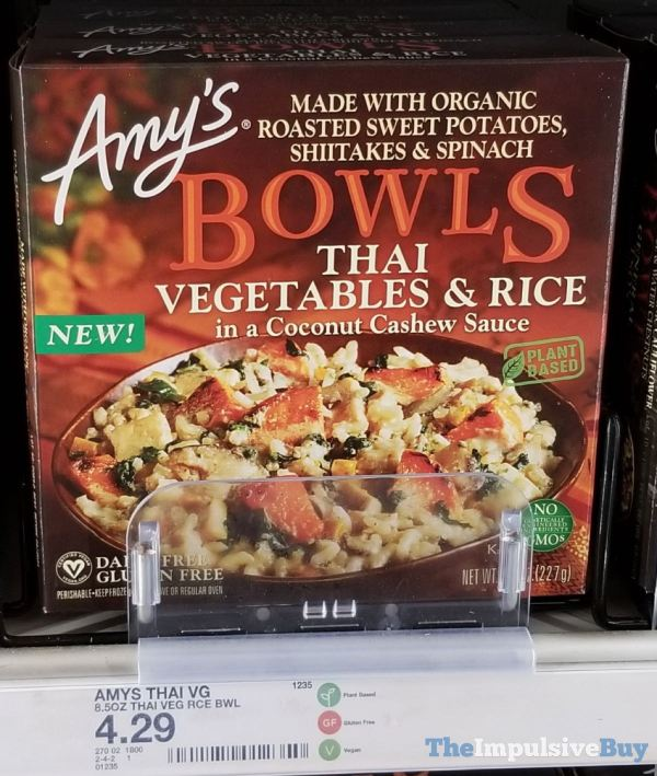 Amy s Bowls Thai Vegetable  Rice