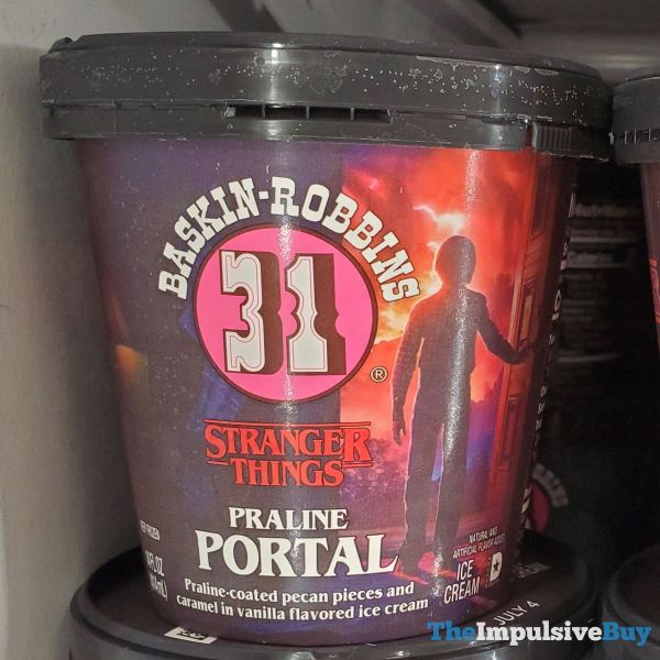 Baskin Robbins Stranger Things Praline Portal Ice Cream