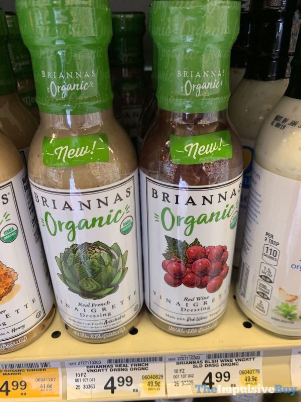 Briannas Organic Real French and Red Wine Vinaigrette Dressings