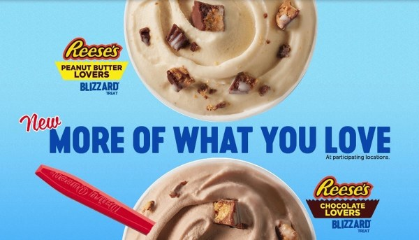 Dairy Queen Reese s Lovers Blizzards