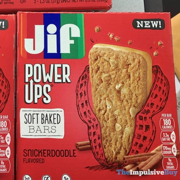 Jif Power Ups Snickerdoodle Soft Baked Bars