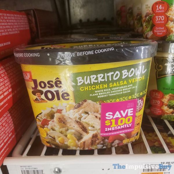 Jose Ole Chicken Salsa Verde Burrito Bowl