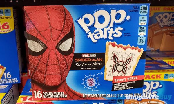 Kellogg s Spider Man Far From Home Spidey Berry Pop Tarts