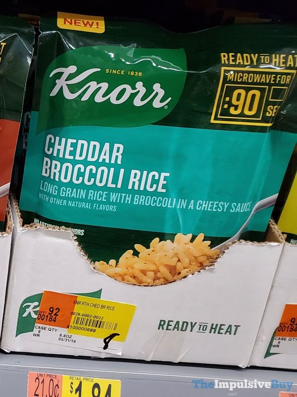 Knorr Ready to Heat Cheddar Broccoli Rice