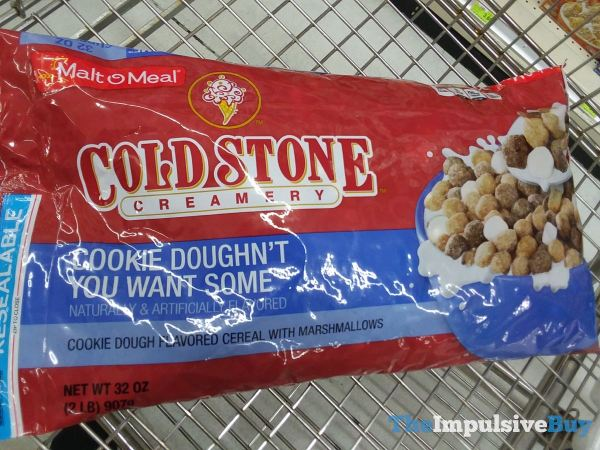 Malt O Meal Cold Stone Creamery Cookie Doughn t You Want Some Cereal