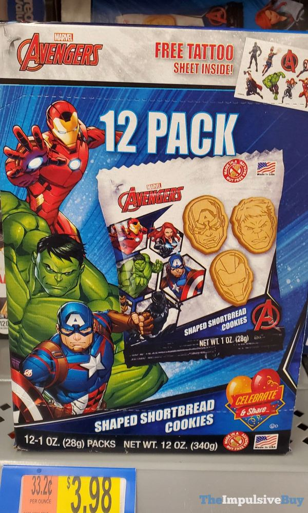 Marvel Avengers Shaped Shortbread Cookies