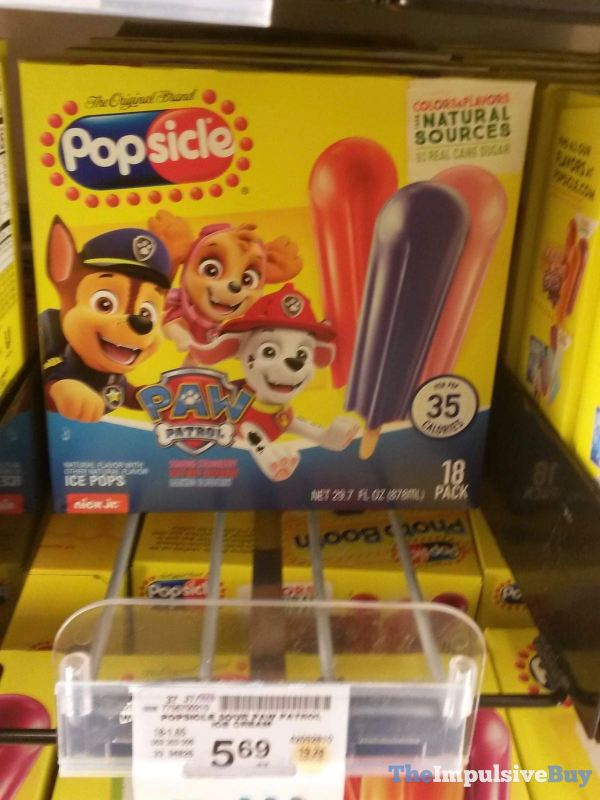 Popsicle Paw Patrol Ice Pops