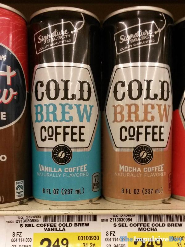 Signature Select Canned Cold Brew Coffee  Vanilla and Mocha