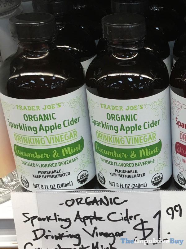 Trader Joe s Organic Sparkling Apple Cider Cucumber  Mint