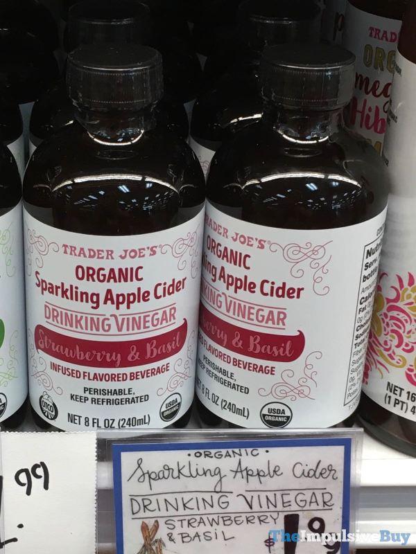 Trader Joe s Organic Sparkling Apple Cider Strawberry  Basil