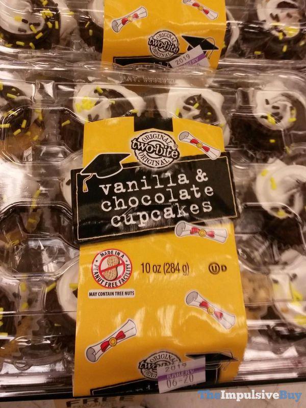 Two Bite Vanilla  Chocolate Cupcakes