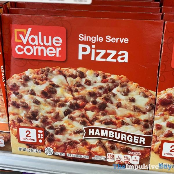 Value Corner Hamburger Single Serve Pizza