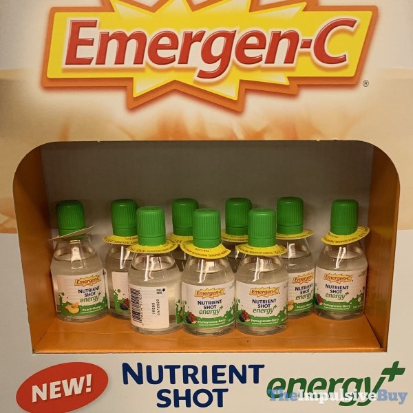 Emergen C Nutrient Shot Energy+ Peach Mango and Pomegranate Berry
