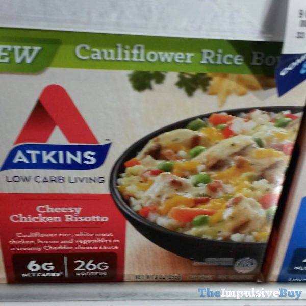 Atkins Cheesy Chicken Risotto Cauliflower Rice Bowl