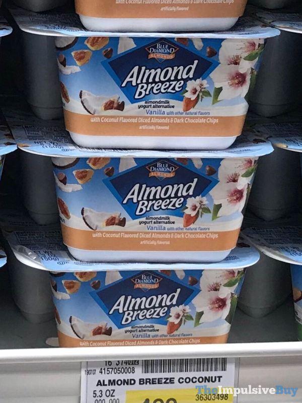 Blue Diamond Almond Breeze Almondmilk Yogurt Alternative with Coconut Flavored Diced Almonds  Dark Chocolate Chips