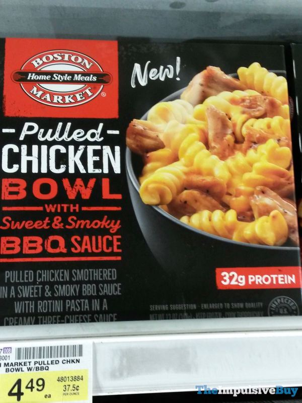 Boston Market Pulled Chicken Bowl with Sweet  Smoky BBQ Sauce