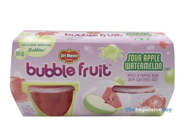 Del Monte Sour Apple Watermelon Bubble Fruit