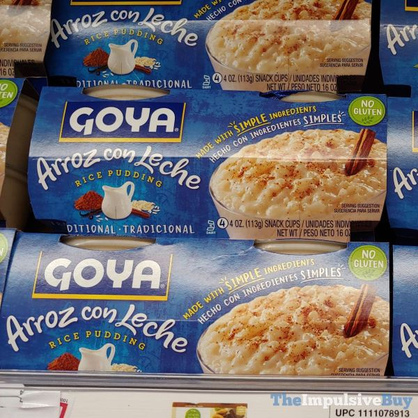 Goya Arroz con Leche Rice Pudding Traditional Snack Cups