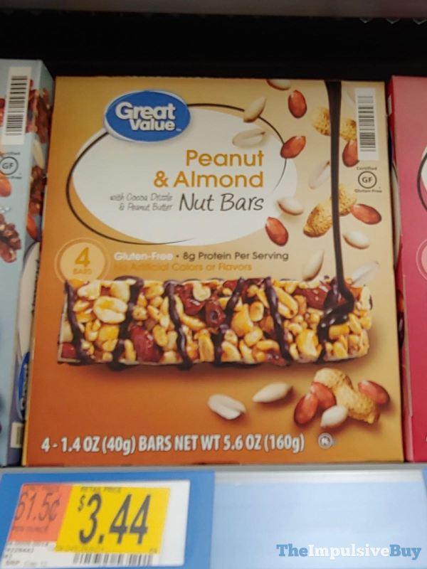 Great Value Peanut  Almond Nut Bars