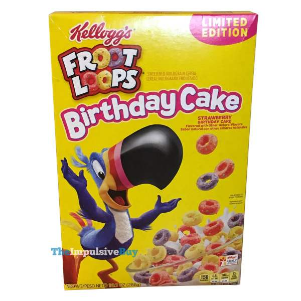 Kellogg s Limited Edition Froot Loops Birthday Cake Cereal
