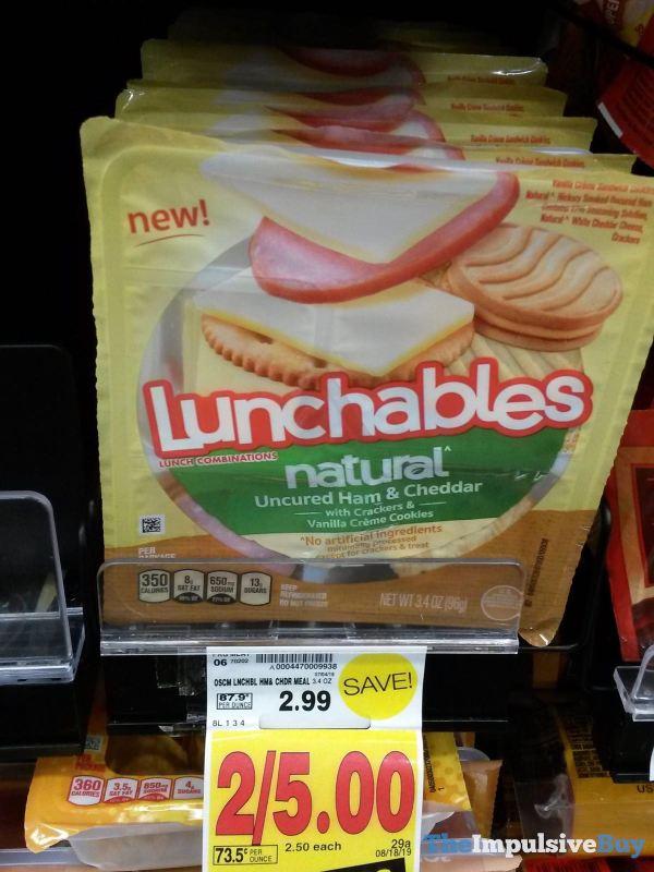 Lunchables Natural Uncured Ham  Cheddar