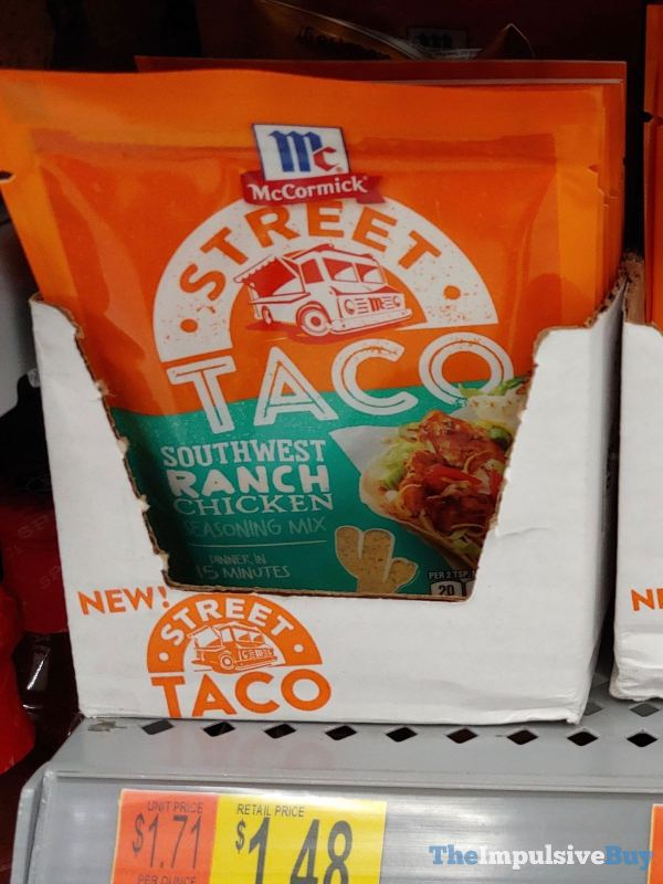 McCormick Street Taco Southwest Ranch Chicken Seasoning Mix
