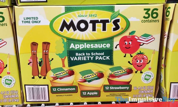 Mott s Limited Time Only Applesauce Back to School Variety Pack