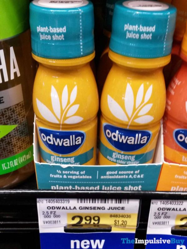 Odwalla Ginseng Apple Cider Vinegar Plant Based Juice Shot
