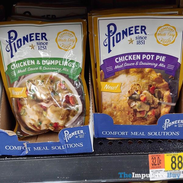 Pioneer Meal Sauce  Seasoning Mixes  Chicken  Dumplings and Chicken Pot Pie