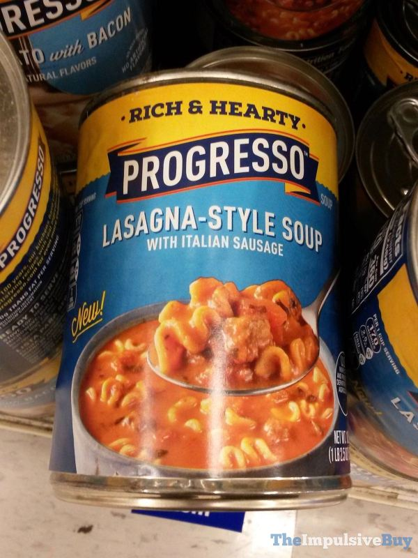 Progresso Lasagna Style Soup with Italian Sausage