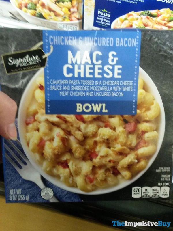 Signature Select Chicken  Uncured Bacon Mac  Cheese Bowl