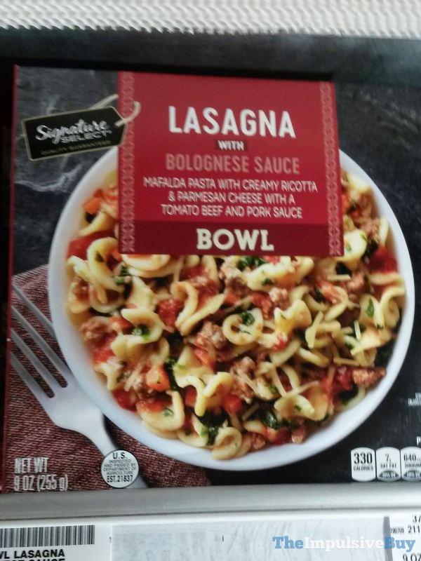 Signature Select Lasagna with Bolognese Sauce Bowl