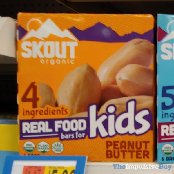 Skout Organic Peanut Butter Real Food Bars for Kids