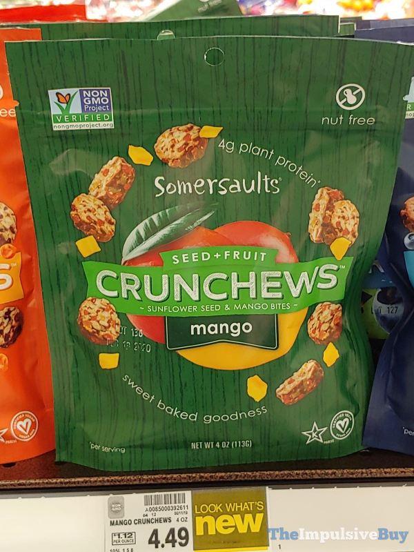 Somersaults Seed + Fruit Crunchews Mango