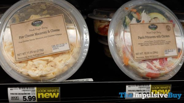 Taylor Farms Five Cheese Macaroni  Cheese and Pasta Primavera with Chicken