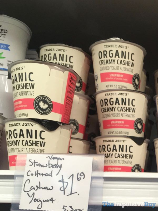 Trader Joe s Strawberry Organic Creamy Cashew Cultured Yogurt Alternative