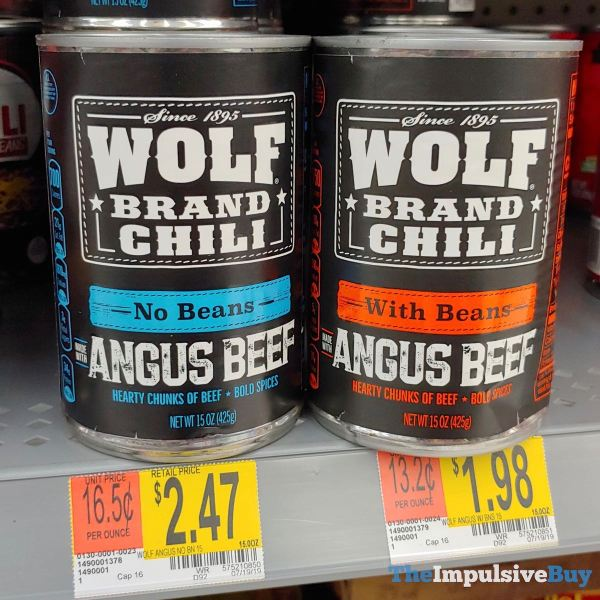 Wolf Brand Chili Angus Beef Chili